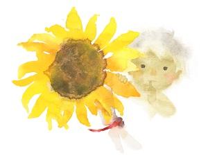 """Iwasaki Chihiro """"Hoa hướng dương và em bé"""" (1971)"""